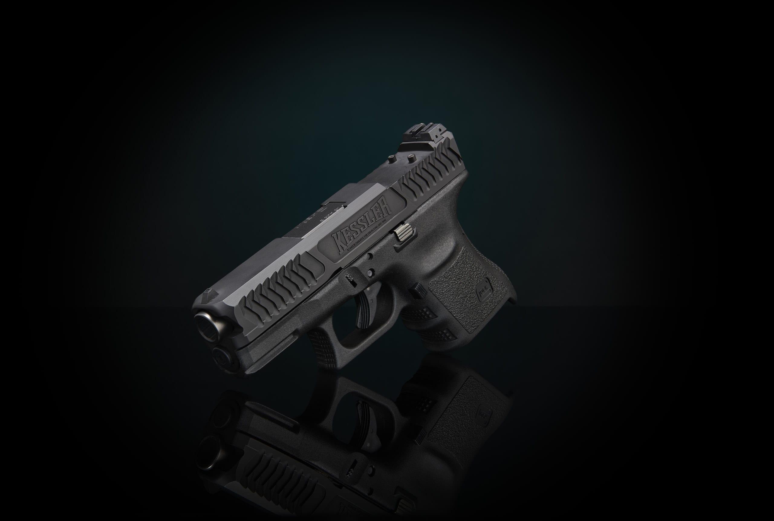 front serrations repetierrillen laderillen glock schlitten pistole schlitten fräsen verex tactical