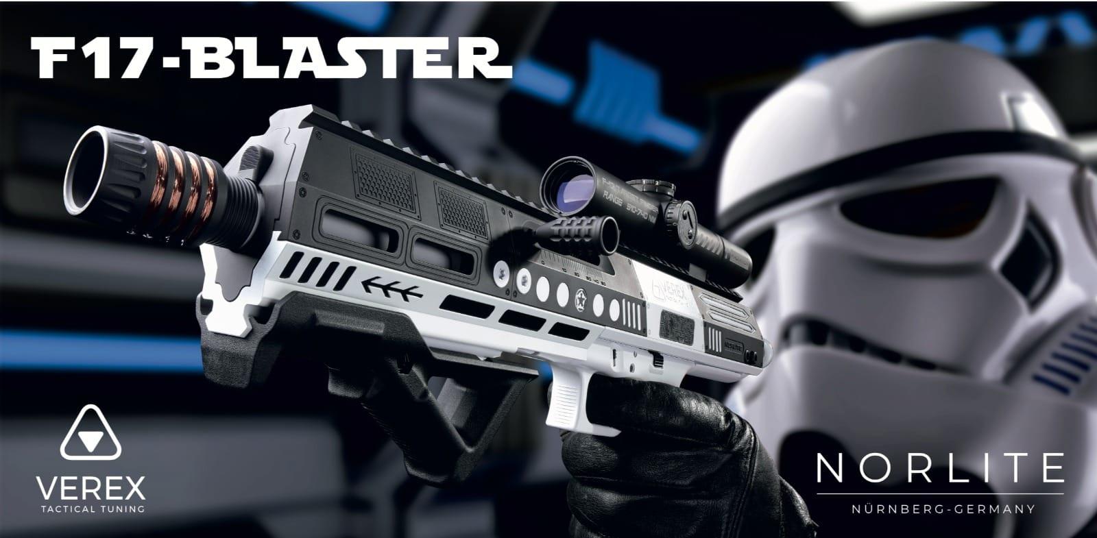 star wars gun pistole karabiner themenwaffe storm trooper gewehr f 17 blaster waffentuning cerakote beschichtung camo weiß graphite black