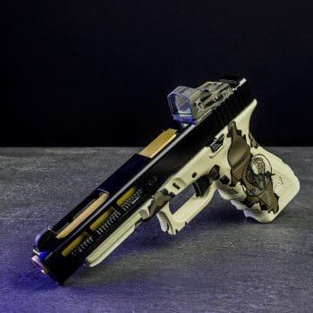 glock 34 laser logo engraving gravieren cerakote camo multicam red dot mos fräsen österreich deutschland verex tactical tuning