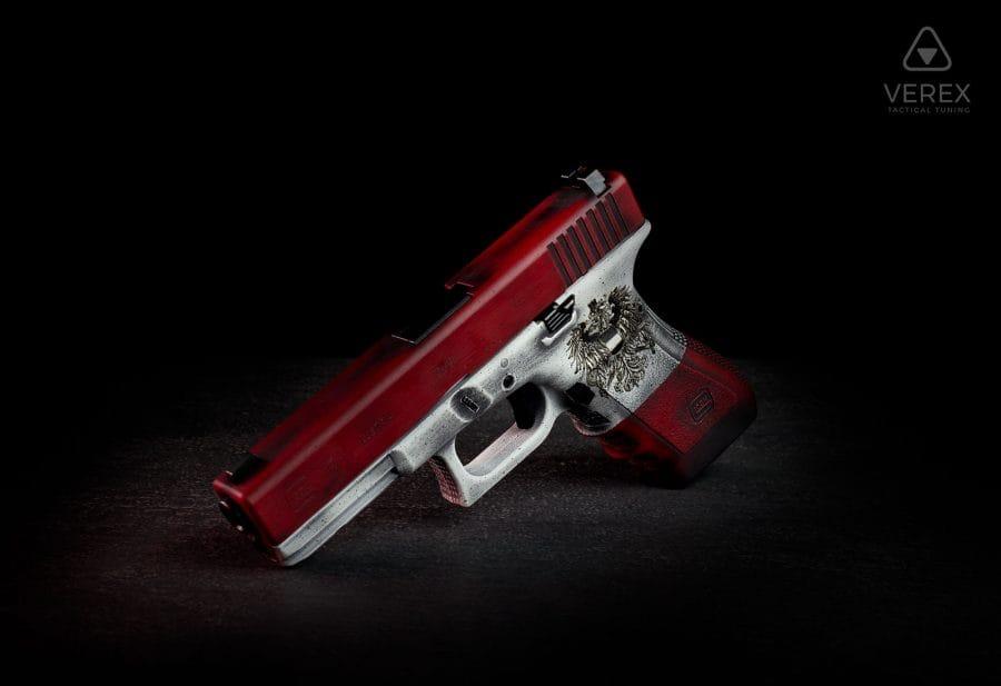 Österreich-Glock-Austria-Edition-Cerakote-Laser-Engraving-Glock-17-Gen-4-Smith-Wesson-Red-Bright-White-900×617