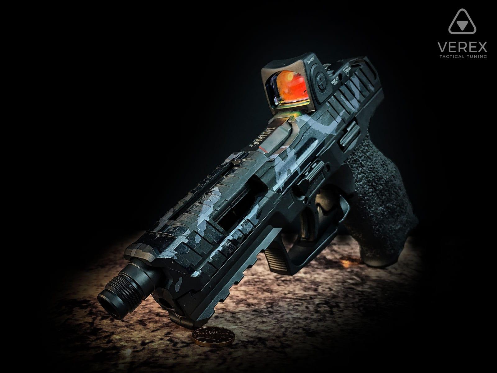 hk-heckler-&-koch-sfp9-vp9-schlitten-fräsen-trijicon-rmr-cerakote-camo-fensterausschnitte-waffentuning-österreich-deutschland-schweiz-verex-tactical-tuning