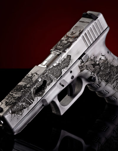 1 terminator glock movie theme gun by verex tactical tuning cerakote beschichtung österreich