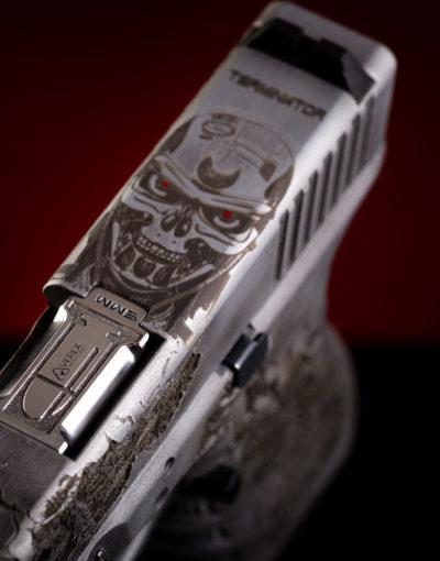 4 caborg terminator glock 17 einzelstück waffe unikat waffenveredelung cooles waffendesign österreich deutschland schweiz italien europa waffentuning firma verex tactical tuning