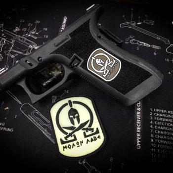 glock-17-patch-logo-auf-griffstück-gravieren-lasergravur-waffentuning-verex-tactical-tuning-österreich-deutschland