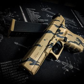 glock-tiger-camo-cerakote-braun-camouflage-waffenbeschichtung-österreich-deutschland-europa-verex-tactical-tuning